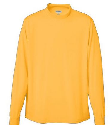 Augusta augusta wicking long seeve mock turtle neck for Mock crew neck shirts