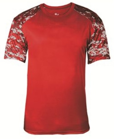 Fitted Digital Camo Tee Badger Battle