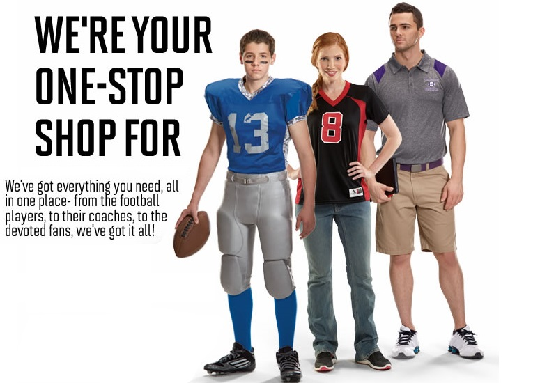 Team Uniforms for football, baseball, soccer, softball, volleyball