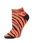 Clearance Pizzazz Zebra Stripe Anklet Socks