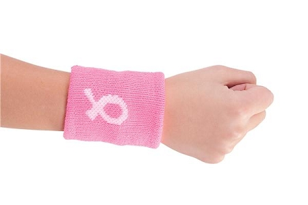 living in pink breast cancer awareness bands