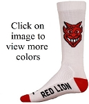 Red Lion  Devil Head Crew Socks