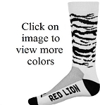Closeout Red Lion Zebra Print Crew Socks