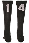 Red Lion Over the Calf Numbers Socks Closeout