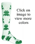 Red Lion Froggy Print Knee High Socks