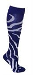 Clearance Twin City Wild Cat Purple Knee High Zebra