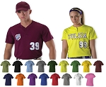 Alleson One color Two Button Jersey Women/Men