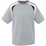 Clearance Silver/Black/White Wicking Mesh Tri-Color Jersey