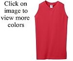 Augusta Ladies/Girls Sleeveless Poly/Cotton V-Neck