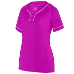 Augusta Power Pink Overpower Two-Button Jersey