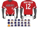 Champro Custom Sublimated Two Button Jerseys