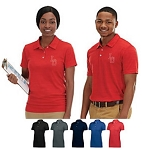 Holloway Striated Men/Women Polo Shirts