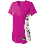 Holloway Change-Up Pink Camo Softball Jersey