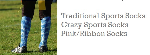 Socks, custom socks, crazy socks, breast cancer socks, hockey socks, stirrup socks, crew socks, ankle socks
