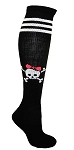 Pear Sox Skull Custom Knee High Socks (PCSKULLLA)