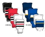 Pearsox Pro Weight Hockey Socks - Chicago or St. Louis