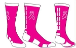 Pearsox Breast Cancer Awareness Crew Socks (Ribbon Dash)