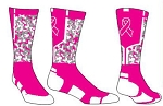 Pearsox Ribbon Digital Camo Breast Awareness Crew Socks