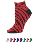 Pizzazz Zebra Stripe Anklet Socks