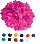 Pizzazz Solid Color Plastic Pom Poms
