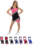 Pizzazz Super Nova Cheerleading Uniform Shell and Skirt