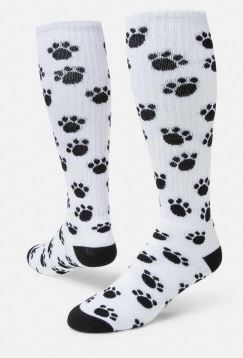 0172d8a1664 Paw Print Knee High Socks from Red Lion - Crazy and Funky Socks
