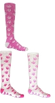 Red Lion Pink Paw Print Crazy Socks