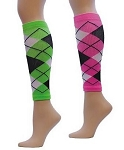 Red Lion Argyle Compression Calf Sleeves