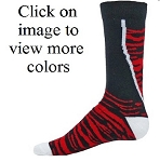 Red Lion Bobcat Zebra Crew Sock-CLOSEOUT