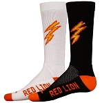 Red Lion Charge Lighting Bolt Crew Socks