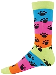 Red Lion Rainbow Paws Crew Socks-CLOSEOUT
