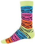 Red Lion Rainbow Tiger Crew Socks-CLOSEOUT