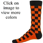 Red Lion Squares Crew Socks-CLOSEOUT