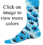 Red Lion Tie Dyed Paws Crew Socks-CLOSEOUT