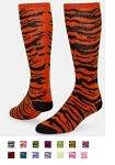 Red Lion Safari Zebra Striped Crazy Socks
