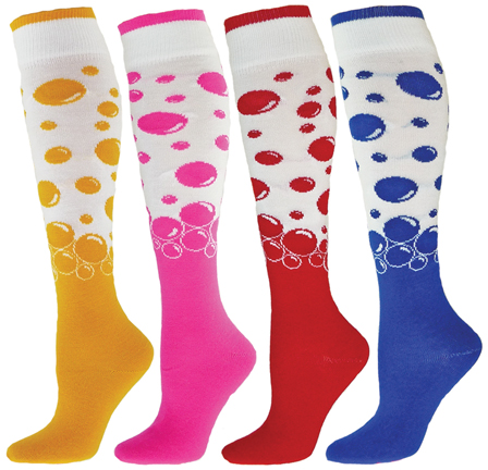 These Knee High Over-the-Calf Length Socks in Fun, Cool & Crazy Patterns are sure to become your favorite novelty tube socks. Featuring high performance design and superior quality yarns, these leisure or athletic knee high socks are very durable, comfortable and certainly made to last.