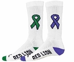 Red Lion Cure Cancer Ribbon Crew Socks