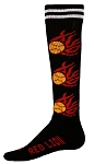 Red Lion Flaming Softballs Socks