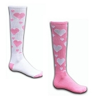 Red Lion Pink Hearts Knee High Socks