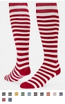 Red Lion Mini Stripe Hoop Knee High Socks Closeout