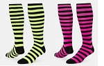 Red Lion Florescent Mini Hoop Knee High Socks Closeout