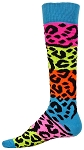 Red Lion Rainbow Leopard Knee High Socks Closeout