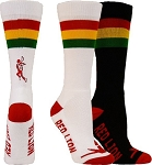 Closeout Red Lion Lacrosse Rasta Crew Socks