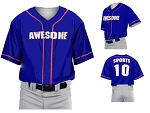 Teamwork Custom  Baseball Jerseys (1 Color Piping)