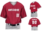 Teamwork Custom  Baseball Jerseys (Traditional Pinstripe)