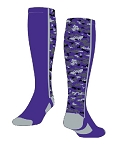 Twin City Digital Camo Knee High Custom Color Socks