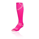 Twin City Aware Pink Breast Cancer Knee High Socks