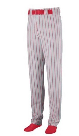 Augusta 14 oz Striped Open Bottom Baseball Pants-CLOSEOUT