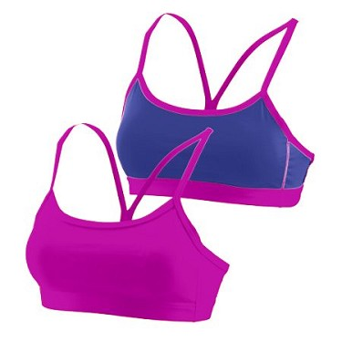 Augusta Ladies or Girls Pink Encore Reversible Sports Bra