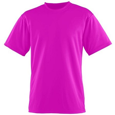 Augusta Elite Short Sleeve T-Shirt Adult/Youth-Power Pink-CLOSEOUT